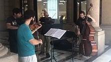 Vivaldi in via Roma:    il quartetto degli ex allievi del Conservatorio