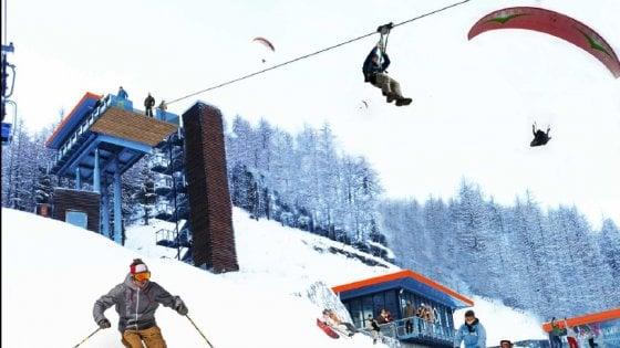 """Il progetto per Pragelato: """"Via i trampolini delle Olimpiadi 2006, al loro posto un parco dello sport"""""""