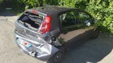 Tamponata un'auto  della polizia miuncipale,  feriti due vigili