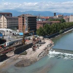 Torino, un cantiere nel fiume: nasce una centrale idroelettrica sulla Dora