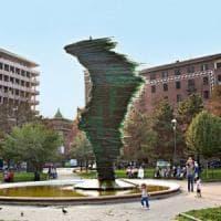 Torino, smantellata la fontana di piazza Benefica: