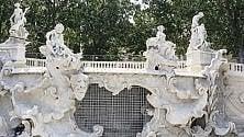 Parco del Valentino, ecco la fontana dei Mesi: finito (quasi) il restauro-lumaca
