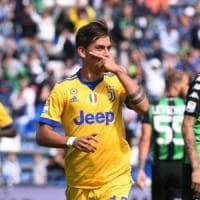 Sassuolo-Juventus 1-3, lo show di Dybala fa ripartire i bianconeri