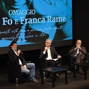 """Jacopo Fo e Petrini al Carignano per ricordare Dario: """"Lui e Franca, sempre così generosi"""""""
