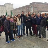 Il granata Molinaro al sit-in per lo Ius Soli con Chiamparino: ma è lì
