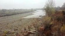 Il fiume Orba si riempie d'acqua all'improvviso dopo 4 mesi di siccità