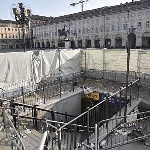 Torino, piazza San Carlo: dopo cinque mesi dissequestrata l'area del parcheggio