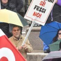 Torino, i lavoratori in corteo per le pensioni: