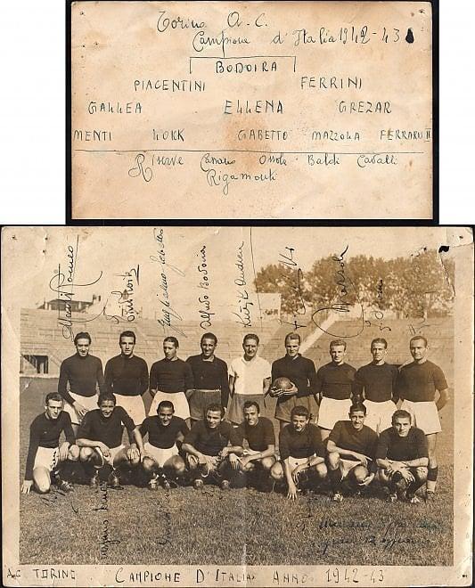 All'asta il Grande Torino, parte da 3mila euro la foto della squadra del primo scudetto