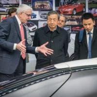 Il vicepremier cinese in visita alla Pininfarina: