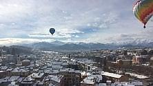 Mondovì, volo in mongolfiera con le Alpi
