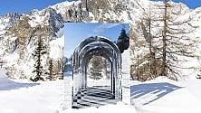 Courmayeur, un'opera d'arte sulle piste di sci