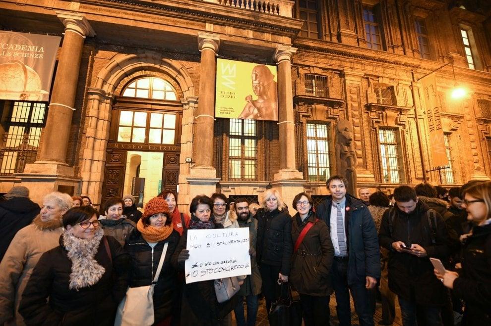 """Greco incontra i suoi fan: """"L'Egizio è nel cuore di tutti e non ha segni politici"""""""
