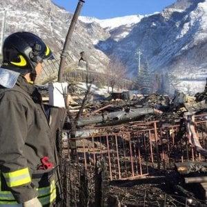 Incendio distrugge convento ortodosso in valle Stura, nel Cuneese