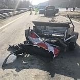 Distrugge l'auto da 100 mila euro in un incidente sulla Ivrea - Santhià