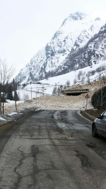L'altra valanga sulla strada della Valgrisenche