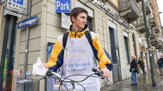 A Torino e Asti farmaci consegnati a domicilio in bicicletta