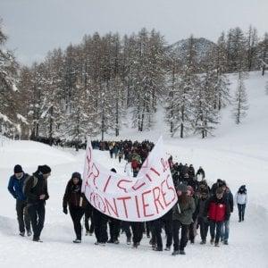 Scarcerati i tre manifestanti arrestati a Briancon durante il corteo pro migranti