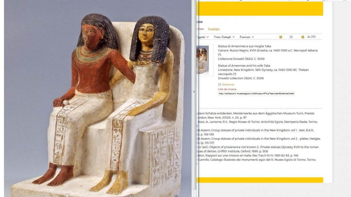 Gli oltre 3mila reperti esposti al museo Egizio di Torino