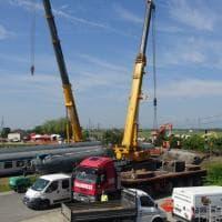 Disastro ferroviario a Caluso: le operazioni di sgombero dei binari