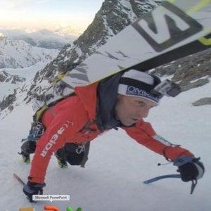 Impresa della guida alpina Edmond Joyeusaz: giù dal Cervino con gli sci ai piedi