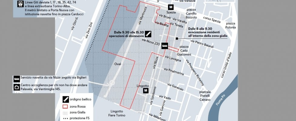 Bomba al lingotto domani il giorno del disinnesco 2500 for Planimetrie da 2500 piedi quadrati
