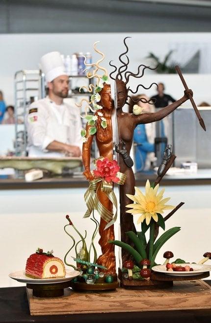 Le meravigliose sculture di zucchero e cioccolato