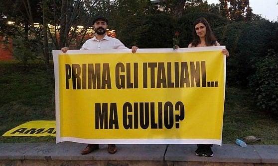 Ivrea, srotolano uno striscione per Regeni al comizio di Salvini: identificati e schedati