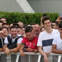 Torino, Ronaldo day: in migliaia allo J Medical salutano l'asso portoghese