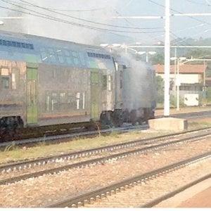 Alessandria: disagi e paura in stazione per il fumo provocata da un freno surriscaldato