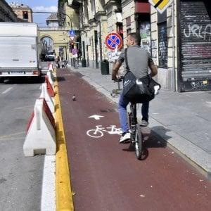 Via Nizza, pronto il primo tratto: Torino ha una ciclopista in più