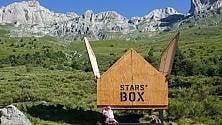 Stars box, la casetta    con tetto apribile    per ammirare le stelle