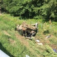 Miracolo a San Giusto, ottantenne illeso nell'auto che si ribalta in autostrada