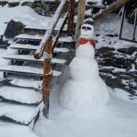 Sul Monte Rosa il primo pupazzo di neve della stagione: è a quota 4500 metri
