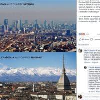 Milano nello smog, Torino circondata dalle Alpi: il