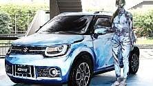 """Una Suzuki da collezione """"vestita"""" d'arte all'asta per finanziare la Gam"""