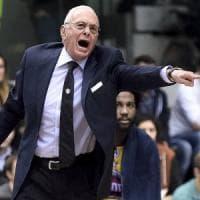 Basket, Larry Brown tornato dall'America e guida l'allenamento