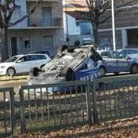 Torino, auto con calciatori della Juve primavera contro volante della polizia