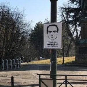 """Graffito del superboss Messina Denaro al Valentino: """"Fidati i migliori spacciatori sono italiani"""""""