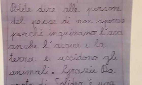 Monferrato, a sette anni nella scia di Greta: scrive una lettera ecologista al sindaco del suo paese