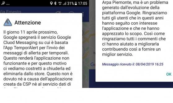"""Addio a TemporAlert, l'app piemontese che prevede i nubifragi: tutta """"colpa"""" di Google"""