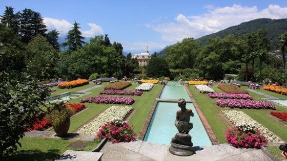 Nel giardino botanico di Villa Taranto a Verbania