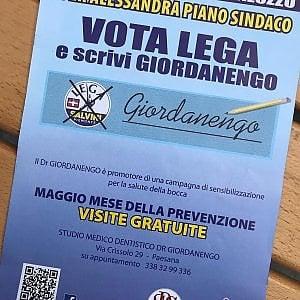 Leghista e dentista, a Saluzzo il candidato offre visite odontoiatriche gratis sul santino elettorale