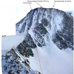Alpinista francese precipita e muore durante una scalata nel massiccio del Monte Bianco