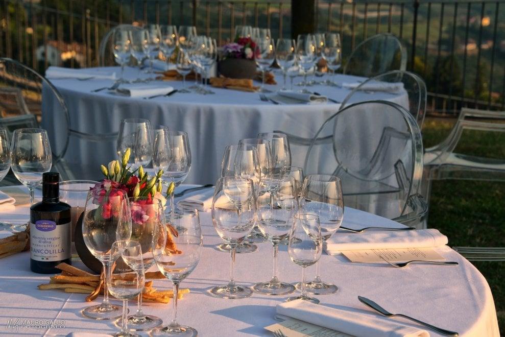 La cena sotto le stelle sul Belvedere di Diano d'Alba