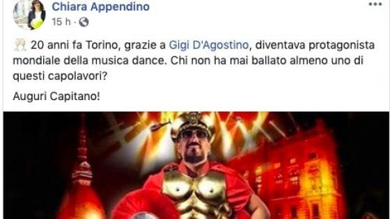 """""""Auguri Capitano!"""", ma il post di Appendino è per il dj Gigi D'Agostino, non per Salvini"""