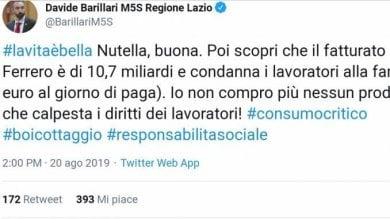 Esponente M5s attacca la Nutella, una pioggia di tweet lo sotterra