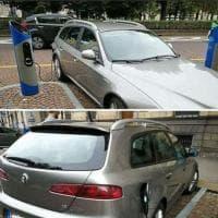 Torino, la sosta truffaldina: finge che l'auto sia elettrica e la lascia nel posteggio della ricarica
