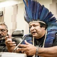 I leader indigeni dell'Amazzonia in visita a Torino per rivendicare il