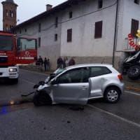 Villafalletto: donna muore nello scontro tra auto e camion